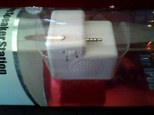 Fast Trax For Ipod/Docking Speakers Station For Ipod Shuffle---Enjoy Music While Charging/Data Transfer Cable Included/Easy On/Off Switch---White Docking Station Version