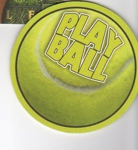 8 absorbent drink coasters play ball motif tennisball coasters - Drink coasters absorbent ...