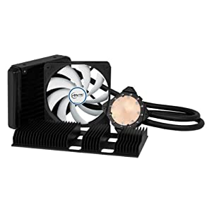 ARCTIC Accelero Hybrid II-120 Water Cooler for Graphics Cards with Backside Cooler for Efficient RAM and VRM Cooling DCACO-V860001-GB Black