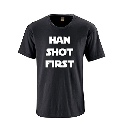 Apericots Funny Han Shot First Obscure Nerd Humor Nice Soft Cotton Tee Tshirt