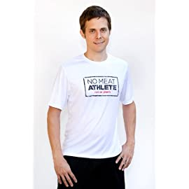 Men's White Short Sleeve Technical Shirt - Stamp Logo