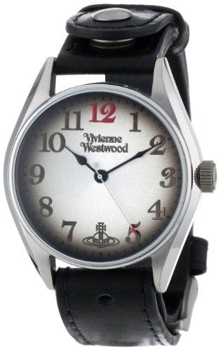 Vivienne Westwood VV012BK - Reloj analógico de cuarzo para hombre con correa de piel, color negro