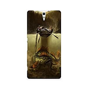 MOBICTURE Pattern Premium Designer Mobile Back Case Cover For Sony Xperia C5