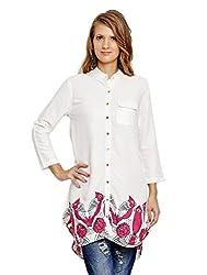 Jalebe Women's Tunic Dress_INDTJBL022_White_S