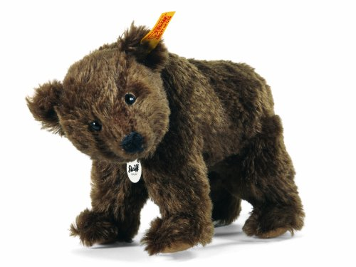 Steiff 22cm Rocky Grizzly Bear Standing with Turnable Head (Brown)
