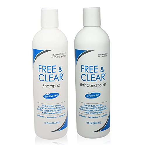 Free & Clear Set, includes Shampoo-12 Oz and Conditioner-12 Oz - One each. (Unscented Shampoo And Conditioner compare prices)