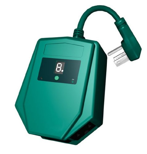 Westinghouse 28484 3-Outlet Outdoor Heavy Duty Digital Photocell Timer with 6-Inch Cord, Green