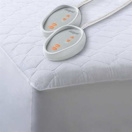 Beautyrest 200Tc Heated Mattress Pad - White - Queen front-994620