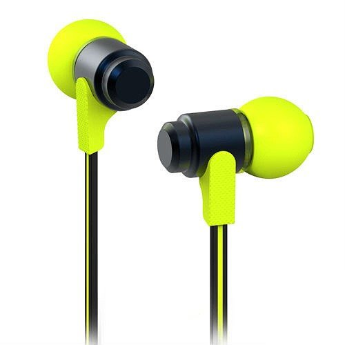Jujeo Wallytech Wea-116 Flat 3.5Mm In-Ear Earphone Headphone For Iphone, Ipad, Ipod, Samsung, Lg And Htc - Black/Green - Non-Retail Packaging