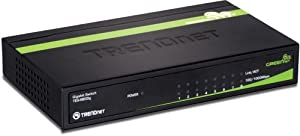 TRENDnet 8-Port Unmanaged Gigabit GREENnet Desktop Metal Housing Switch