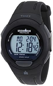 Timex Men's T5K608 Ironman Traditional 10-Lap Black Resin Strap Watch