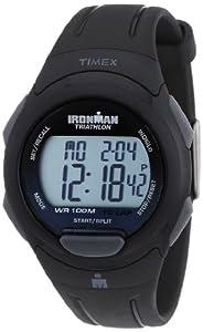 Timex Men's T5K608 Ironman Traditional 10-Lap Black Resin Strap Watch
