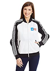 adidas Originals Women's Quilted Jacket (AA3888_Black and White_38)