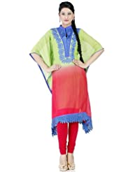 Chhabra555 Art Georgette Green Embroidery Readymade Kurti