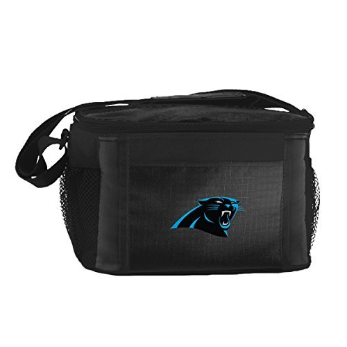 nfl-carolina-panthers-insulated-lunch-cooler-bag-with-zipper-closure-black-by-kolder