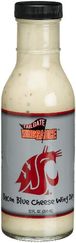 Tailgate Washington State University Bacon Blue Cheese Wing Dip, 12-Ounce Glass Bottles (Pack Of 6)