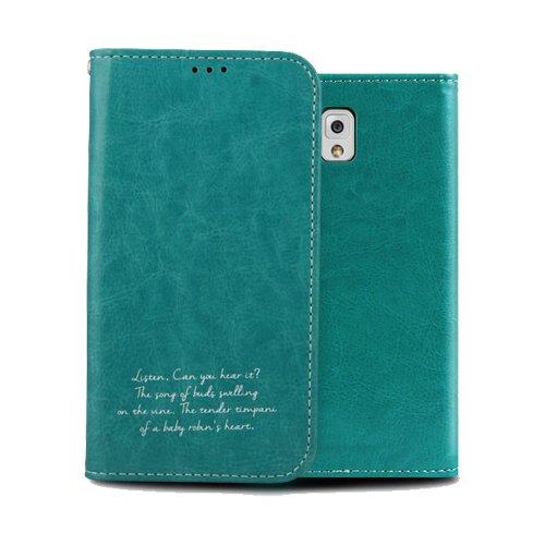 Galaxy S4 ケース Airlink Flip Case ギャラクシー S4 手帳型 フリップ ケース ブルーグリーン(Blue Green) / SC-04E 携帯 スマホ スマートフォン モバイル ケース カバー ダイアリー カード 収納 ポケット スロット