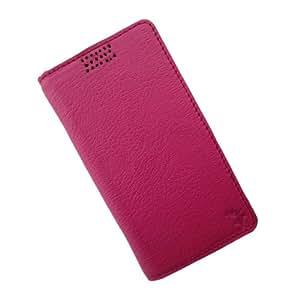 i-KitPit Genuine Leather Flip Case For HTC Desire 700 (PINK)