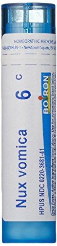 Boiron Homeopathic Medicine Nux Vomica, 6C Pellets, 80 Count Tube