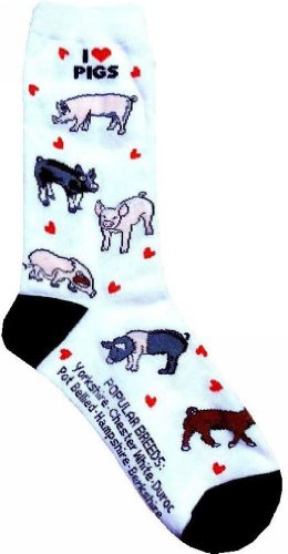 I love Pigs Women Size Socks