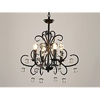 Garwarm Vintage Chandelier 4 lights Antique Pendant light Home Ceiling Light Fixtures Chandeliers Lighting,20.5×18.9 Inches/W×H