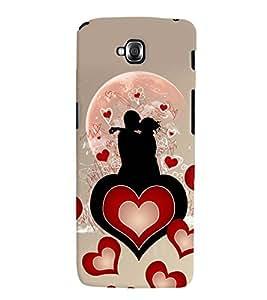 Fuson Heart Love Couple Pattern Back Case Cover for LG G PRO LITE - D3991