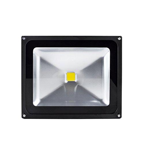 1 X LianLe 50W IP65 étanche LED Projecteur, Energy Saving Lampe LED, Intérieur / Extérieur, Blanc Chaud (2800-3200K)