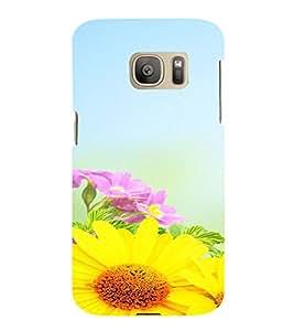 PrintVisa Flower Design 3D Hard Polycarbonate Designer Back Case Cover for Samsung Galaxy S7 Edge