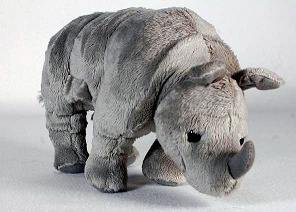 "NICK NACK Nick Nack Rhino 11"" Soft Stuffed Toys In Grey"