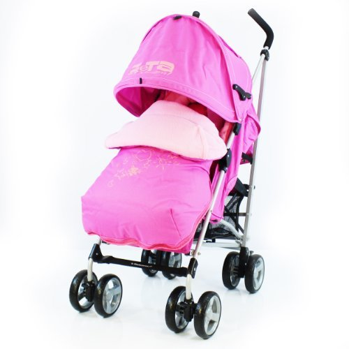 Amazon Stroller Baby Travel Zeta Vooom Complete - Pink With Footmuff