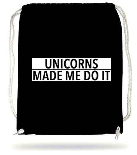 Unicorns Made Me Do It Borsa De Gym Nero Certified Freak