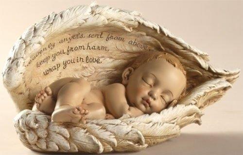 Sleeping Baby In Angel Wings front-185695