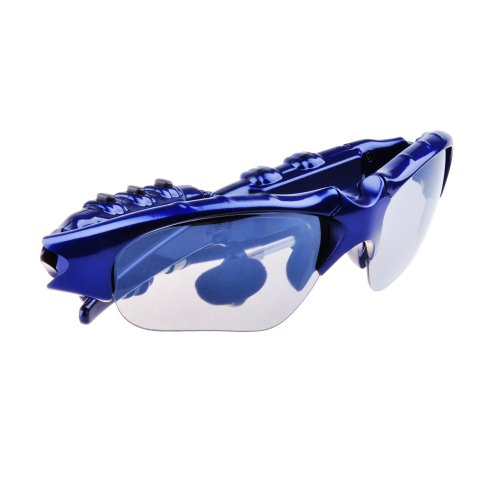 Patuoxun Bluetooth Sunglass Handsfree Headset With Music Player For Iphone5 4S Samsung Siii Samsung Siv Htc One M7 Blue
