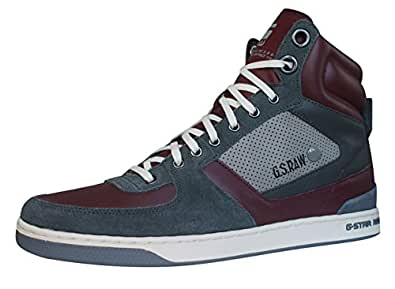 g star raw pitcher rhodes hi mens leather trainers shoes. Black Bedroom Furniture Sets. Home Design Ideas