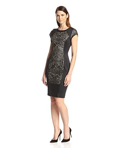 Susana Monaco Women's Carmine Faux Leather Sheath Dress