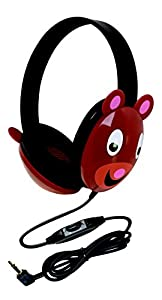 Califone 2810-BE Listening First Kids Stereo and PC Headphone, Bear Design