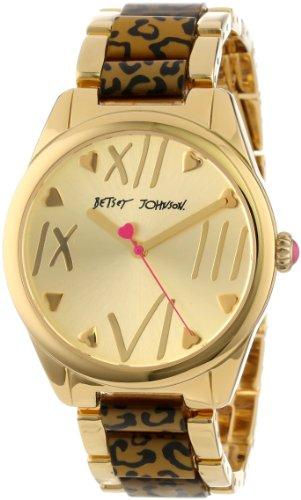 Betsey Johnson Women's BJ00105-02 Analog Leopard Printed Bracelet Watch