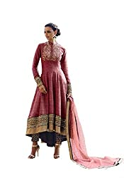 Beautifull Pink Colored Embroidery Anarkali Suit