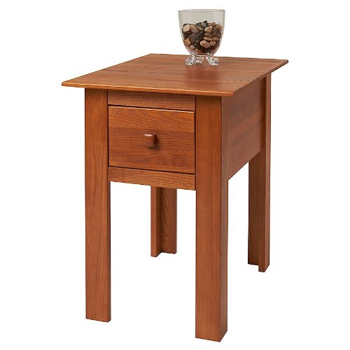 Ash Bedside Table 3838 front