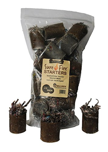 Review Walden Sure-Fire Starters Easy to Light 24 Pack for Wood Stoves Fireplaces Charcoal Grills Bo...