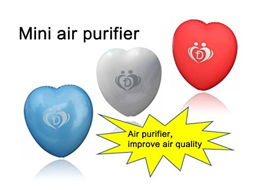 Onairmall® Olf-618 New Style Portable Mini Heart Shape Air Purifier Ozonizer Pendant-Ion Generator - Blue front-608957