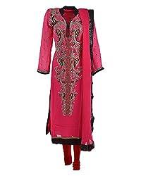 Vama Girl's Georgette Anarkali Suit (Magenta, 38)