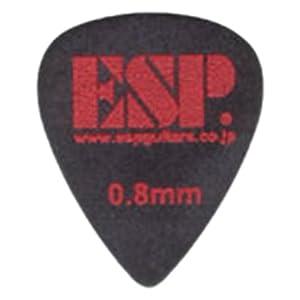 ESP ピック ティアドロップ PT-PS10/BK スベリドメロゴ 0.8mm ブラック
