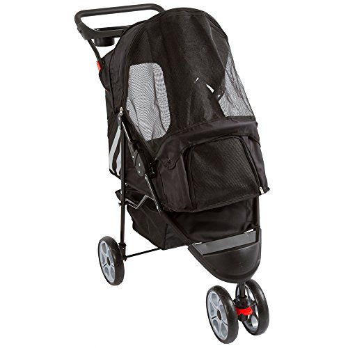 Black 3-Wheel Trail Terrain Pet Stroller Jogger