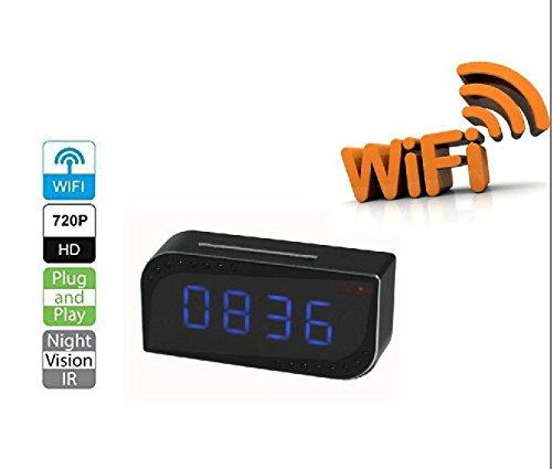Wifi Home Security Camera,Mini Clock Design Yuanj(TM) HD 720