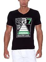 Rivaldi Camiseta Manga Corta Modi (Negro / Blanco)