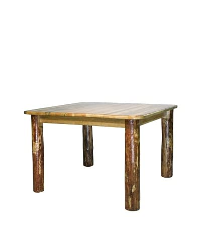 Montana Woodworks Glacier Country 4-Post Dining Table As You See
