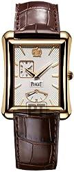 Piaget Emperador Mens Rose Gold Automatic Power Reserve Watch GOA33070