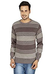 Mens Casual Stripped Sweaters by Fizzaro