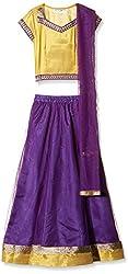 Atayant Girl Lehenga Choli (ATAYK_026_3:4YR_Purple,Yellow_M)